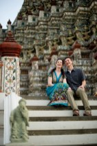 Kristine and Kent's Wat Arun pre-wedding (prenuptial, engagement session) in Bangkok, Thailand. Wat Arun_Bangkok_wedding_photographer_Kristine and Kent_252.TIF