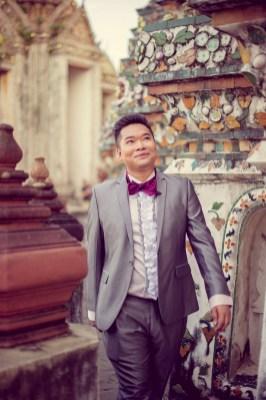 Wu and Lai's Wat Arun pre-wedding (prenuptial, engagement session) in Bangkok, Thailand. Wat Arun_Bangkok_wedding_photographer_Wu and Lai_277.TIF