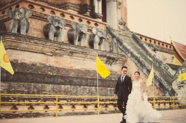 Kuma and Novia's Wat Chedi Luang Worawihan pre-wedding (prenuptial, engagement session) in Chiang Mai, Thailand. Wat Chedi Luang Worawihan_Chiang Mai_wedding_photographer_Kuma and Novia_10.JPG