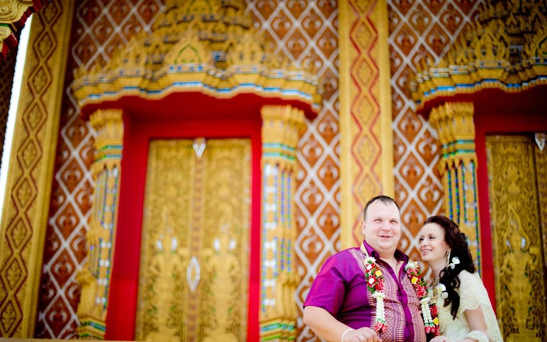 Pattaya Temple Wedding: A & M