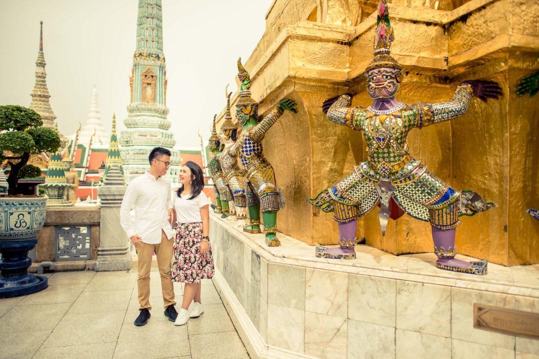 Pre-Wedding at The Grand Palace in Bangkok Thailand | Bangkok Wedding Photography