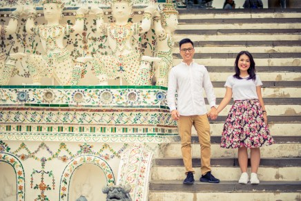 Wat Arun Ratchawararam Ratchawaramahawihan Bangkok Thailand Wedding photography at Wat Arun in Bangkok , Thailand. Photo by NET-Photography Thailand Wedding Photographer