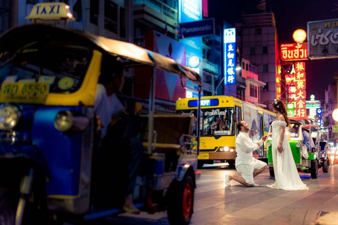 Pre-Wedding at China Town in Bangkok Thailand | Bangkok Wedding Photography