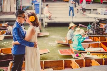 Thailand Damnoen Saduak Floating Market Wedding Photography | NET-Photography Thailand Wedding Photographer
