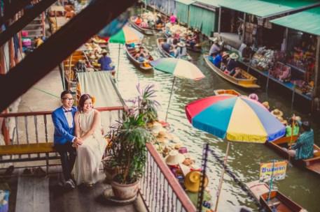 Thailand Damnoen Saduak Floating Market Wedding Photography   NET-Photography Thailand Wedding Photographer