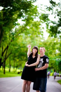 Pre-Wedding (Engagement Session) at Rod Fai Park in Bangkok, Thailand.