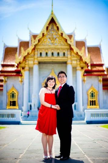 Thailand Bangkok Marble Temple (Wat Benchamabophit) Wedding Photography   NET-Photography Thailand Wedding Photographer