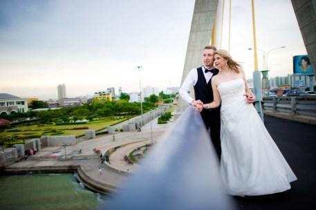 Thailand Bangkok Rama VIII Bridge Wedding Photography | NET-Photography Thailand Wedding Photographer