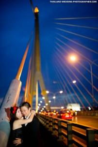 Thailand Bangkok Rama VIII Suspension Bridge Engagement Session