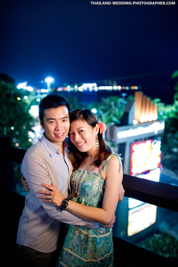 Marriage proposal at Central Festival Pattaya Beach in Pattaya Thailand.