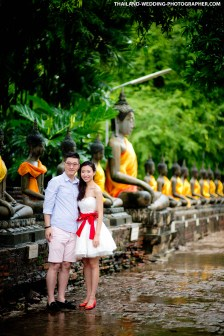 Thailand Ayutthaya Wat Yai Chai Mongkhon Wedding Photography | NET-Photography Thailand Wedding Photographer
