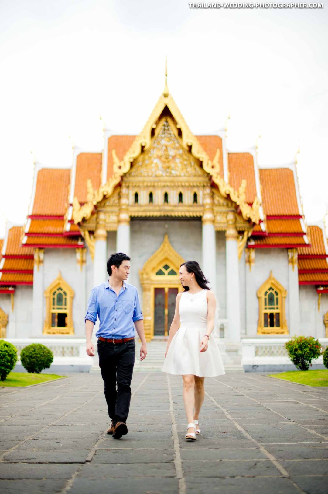 Thailand Bangkok Marble Temple Wedding Photography | NET-Photography Thailand Wedding Photographer