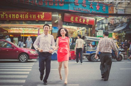 China Town Bangkok Thailand Engagement Session