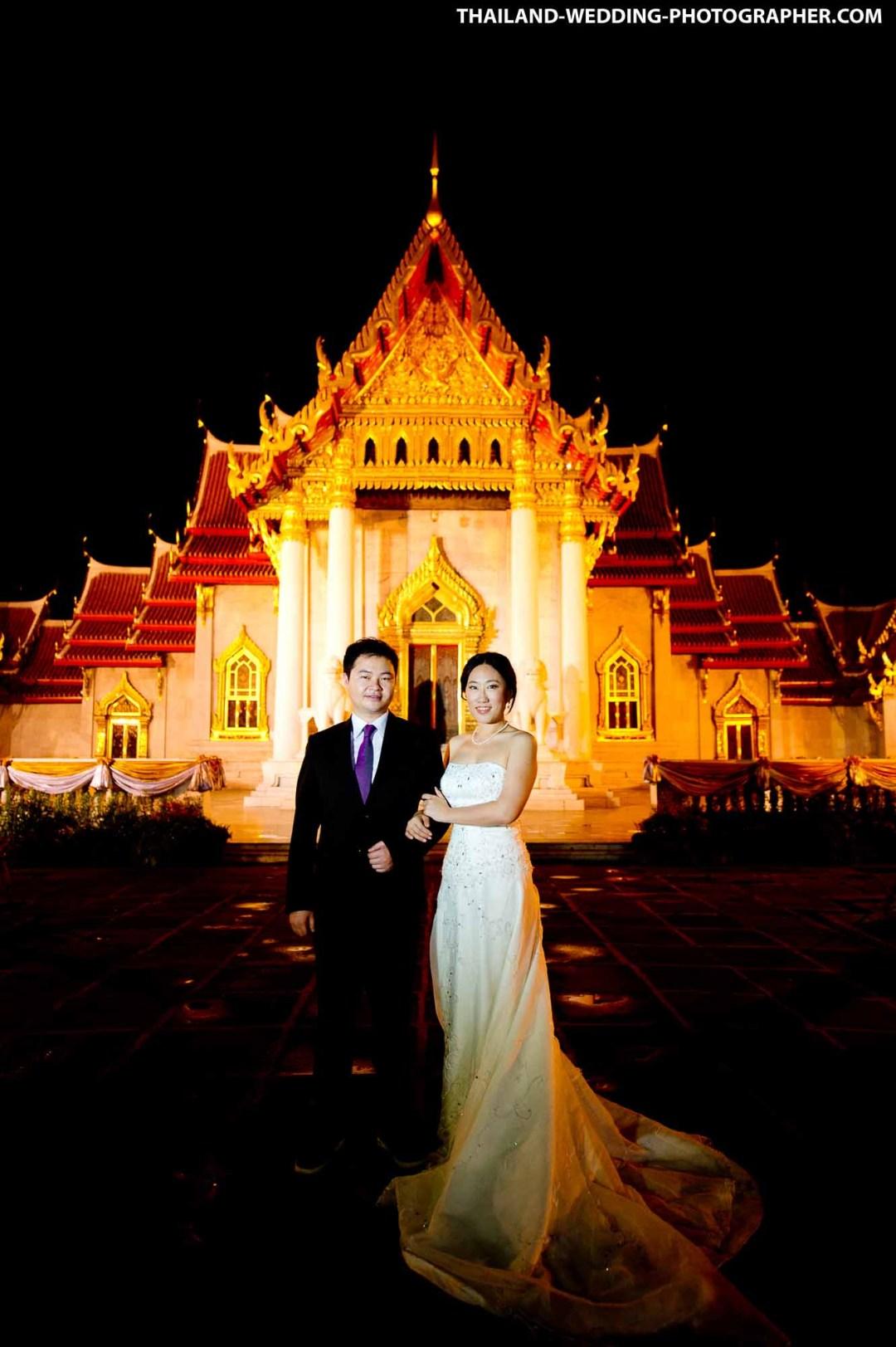 Marble Temple Bangkok Thailand Prenuptial Photography
