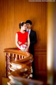 Thai wedding day photo taken in Bangkok, Thailand.