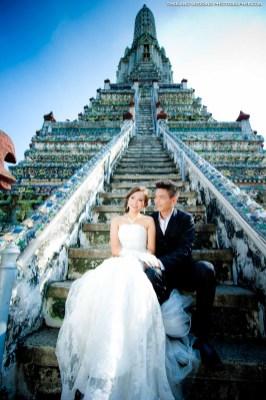 Wat Arun Bangkok Thailand Prenuptial (Engagement Session, Pre-Wedding)