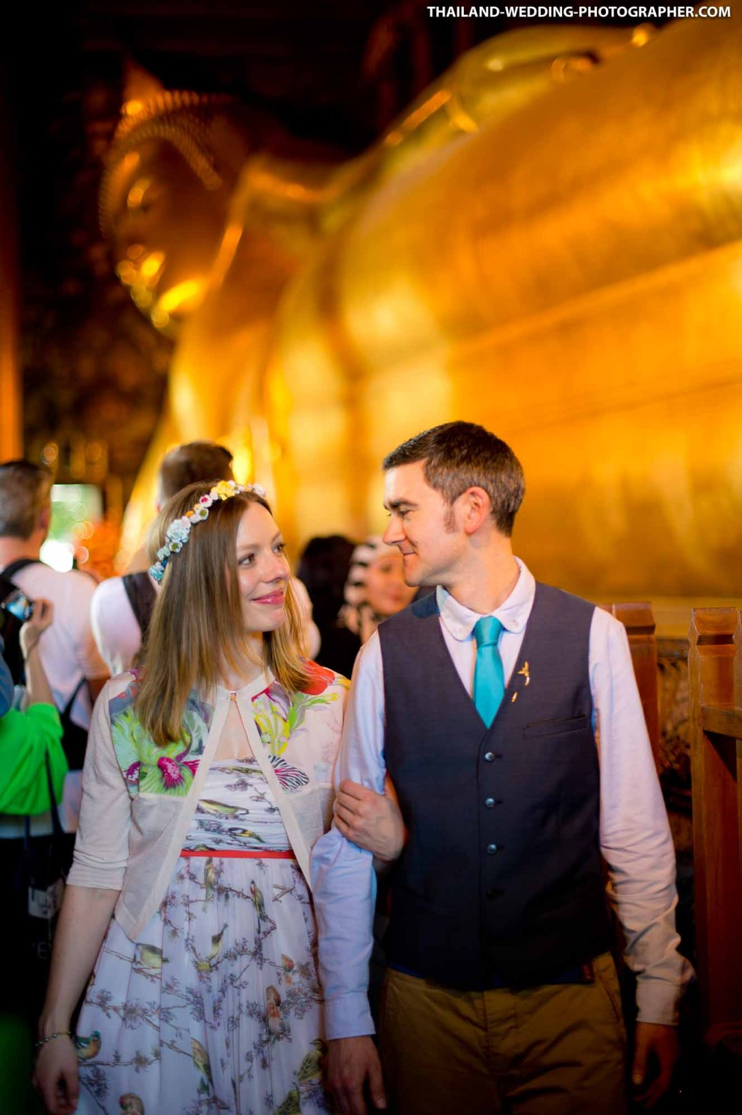 Wat Pho Bangkok Thailand Wedding Photography