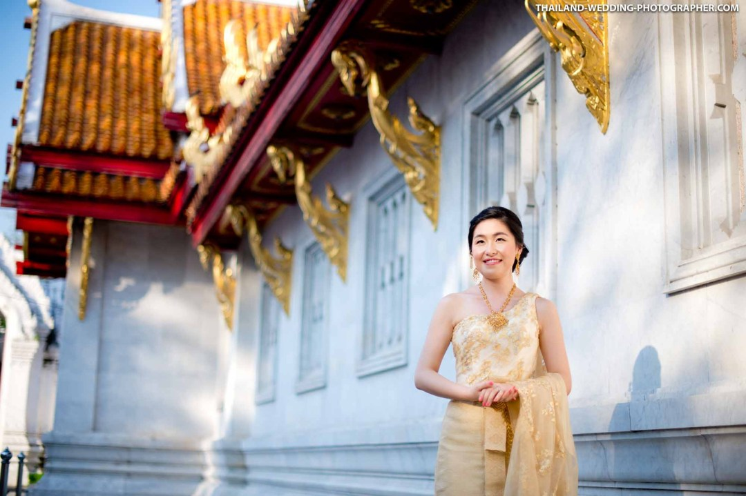 Marble Temple Bangkok Thailand Wedding Photography