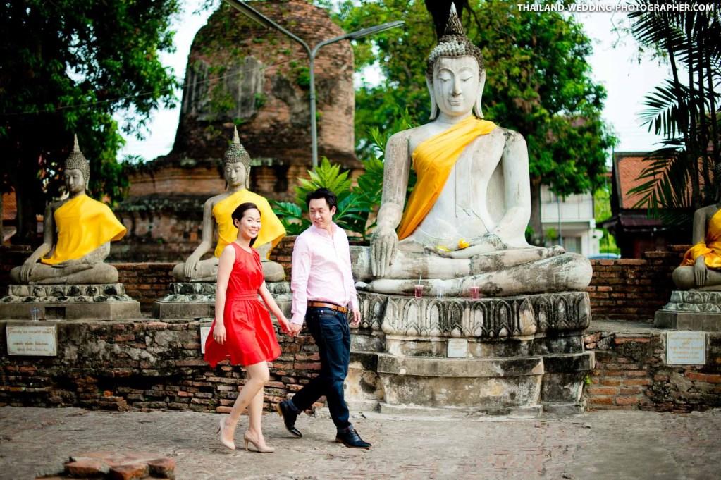 Wat Yai Chai Mongkhon Ayutthaya Wedding Photography
