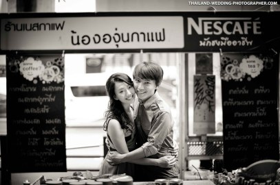 Pre-Wedding photo shoot of a wedding couple from Taiwan. This photo was taken at Siam in Bangkok, Thailand.