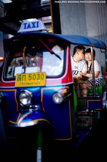 Veronika & Okto's pre-wedding photoshoot at Siam in Bangkok, Thailand.