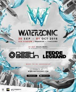 Waterzonic 2016 with Dash Berlin and Fedde Le Grand, DJ, Bangkok