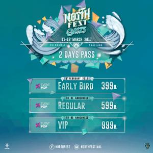 North Fest Chiang Mai 2017 - Tickets, Thai, DJ, Party, Festival