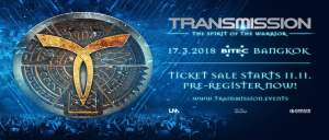 Transmission Festival Bangkok 2018 - Ticket Sales Start, Top Trance DJs, Thailand, BKK, Thai, Music Festival, BITEC