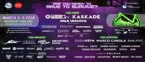 Dropzone Festival Bangkok 2018- Feb Final Banner, DJ Festival