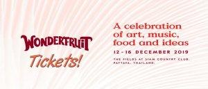 Wonderfruit Festival Pattaya 2019 banner-tickets, Thailand, Pattaya