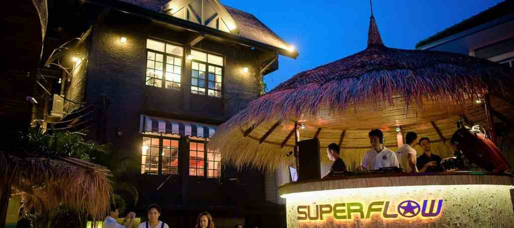 Superflow brings hangout and party people together for a date on an outdoor beach in Bangkok. Thailand Event Guide