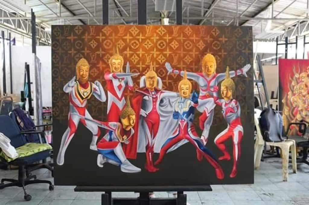Ultraman Buddha Art Gets Police Complaint. Thailand Event Guide