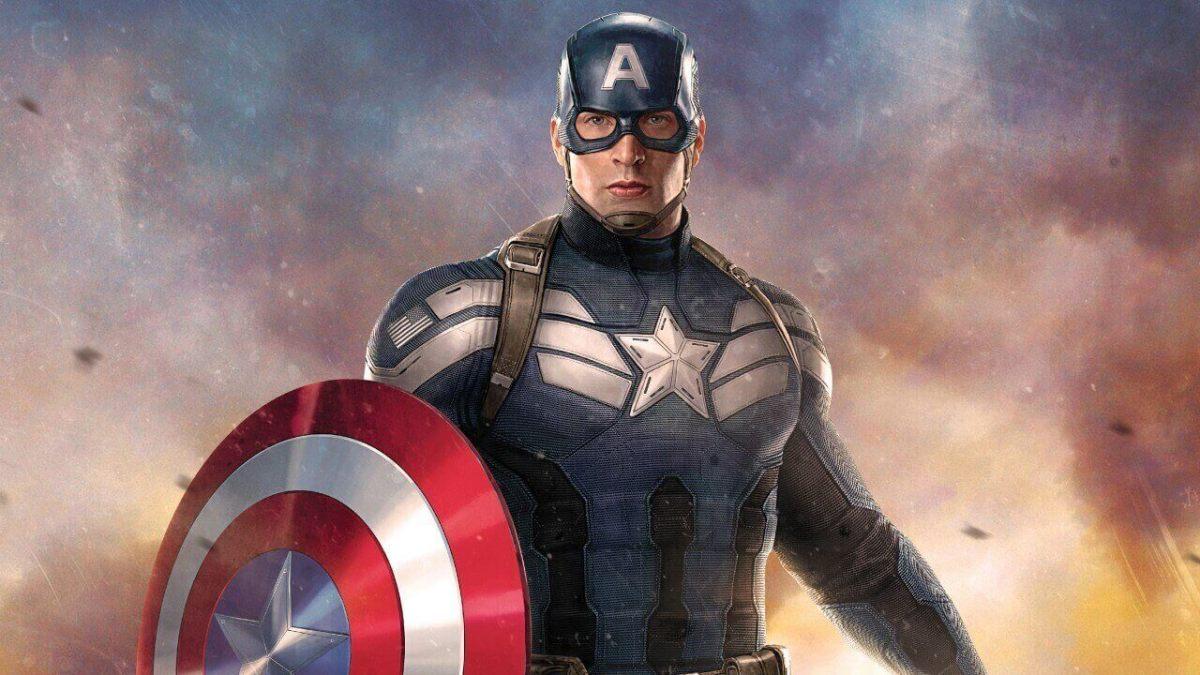 Marvel Studios Captain American Chris Evens in Back