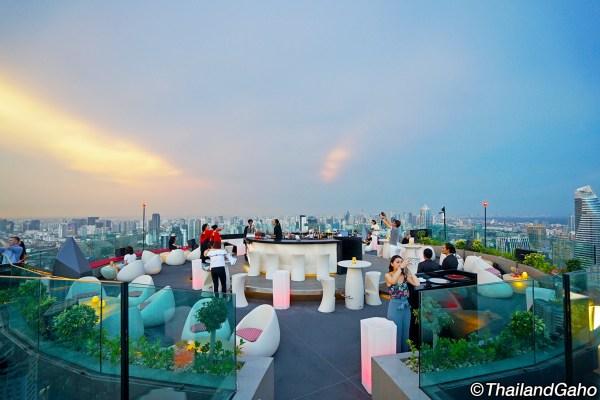 CRU ルーフトップバー バンコク 59階の屋上で極上のシャンパンタイム