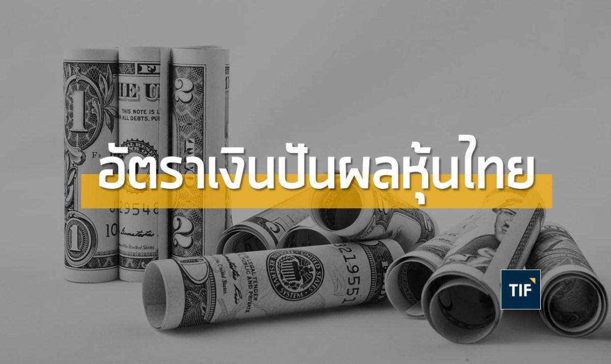 อัตราเงินปันผลพร้อมตารางสรุป Passive Income ณ เม.ย. 61 | หุ้นใหญ่ หุ้นปันผล กองทุนอสังหาฯ