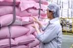 Royal Umbrella inspecting rice