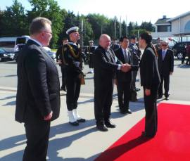 Yingluck with Polish Officials
