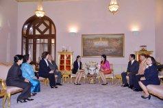 Ratchanok Intanon meeting Yingluck Shinawatra