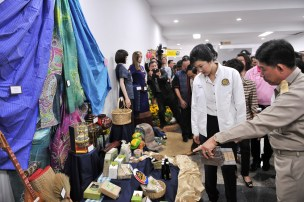 Nong Khai YL inspecting local products