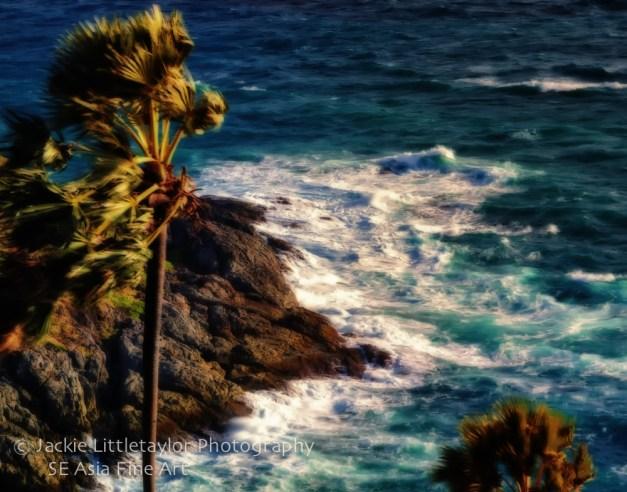waves crashing Promthep Cape