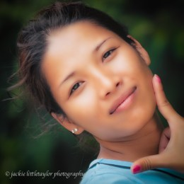 lovely smile Thai young woman Portrait
