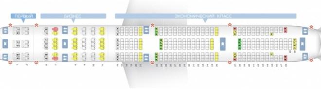 Боинг 777 200 - схема салона Emirates