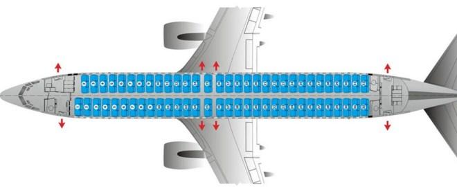 Схема салона «Боинг 737-800» в авиакомпании «Победа»