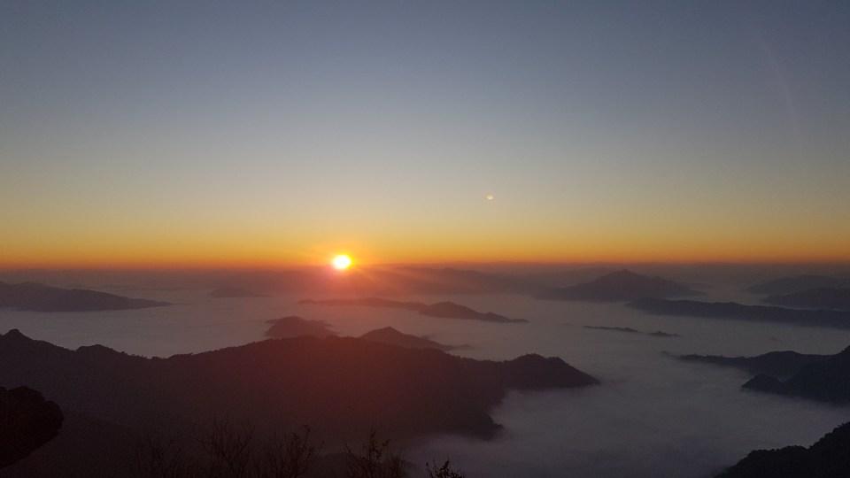 Sunrise at Phu Chi Fa