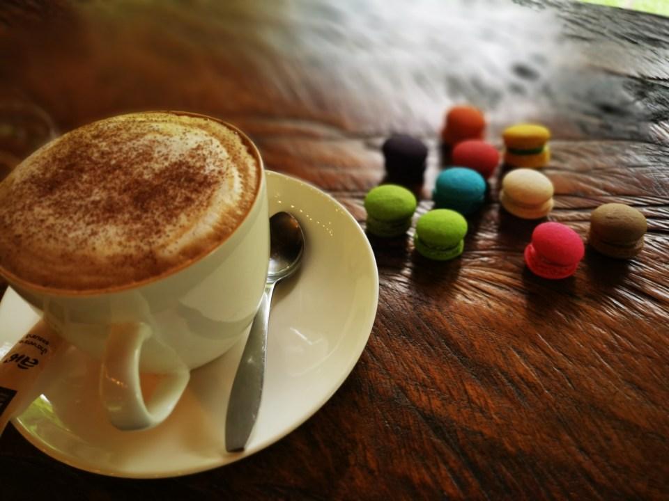 Macarons at Take a Walk house and coffee.