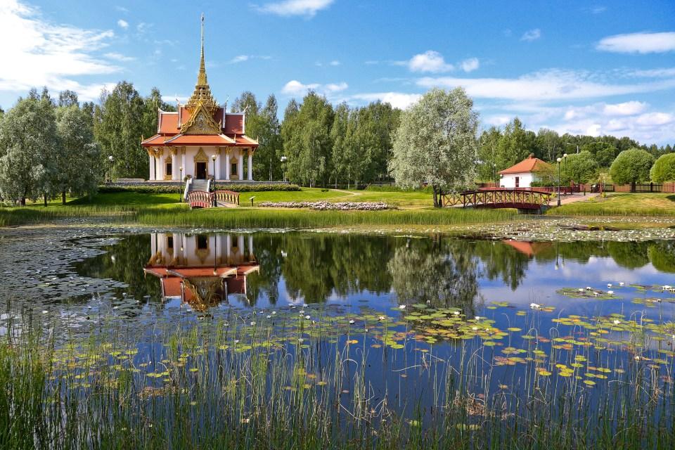 The Thai pavilion in Ragunda, Utanede, Jämtland.