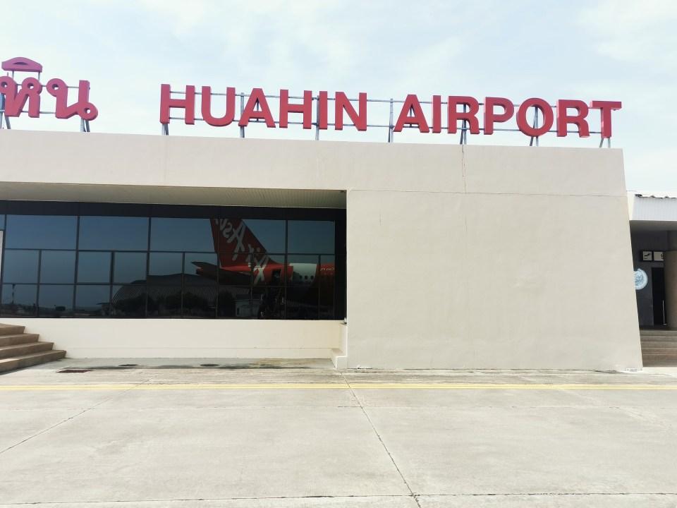 Sign of Hua Hin airport