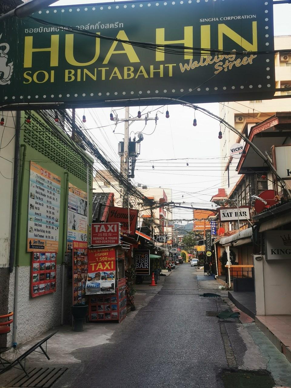 The bar street in Hua Hin