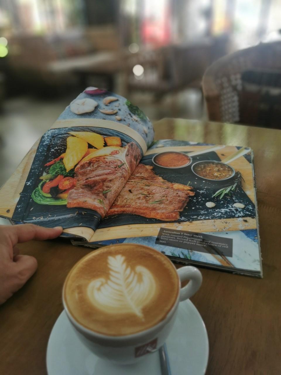 Menu at Hern Coffee and Bistro Patong Beach
