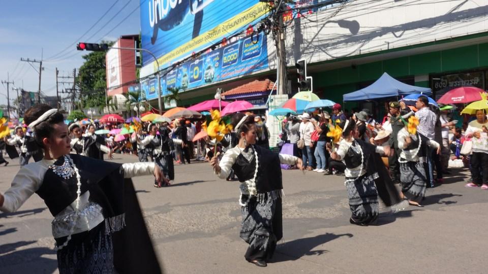 Isan dancers candel festival Ubon Ratchathani